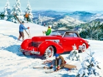 1937 Cord With Skiers F1C