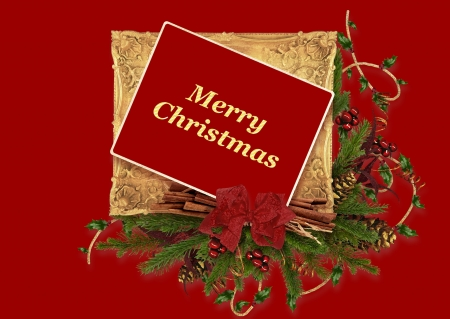Merry Christmas - holiday, Christmad, rde, Merry, color, greeting, card