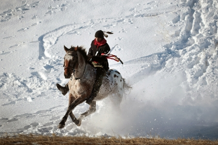 Native American rides - Oceti Sakowin Camp, rides, Dakota Access pipeline construction, Native American, horse, Standing Rock Sioux Reservation, activist