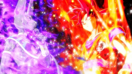 Battle of Gods - Beerus, Super Saiyan God, Dragon Ball, God Of Destruction, Anime, Battle Of Gods Saga, Goku Son, Manga, Z, Saiyan
