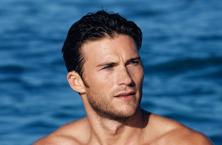 Scott Eastwood - water, man, Scott Eastwood, blue, actor, sea, summer