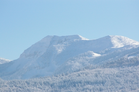 Taylor Mountain after the Storm; Victor, Idaho - Trees, Scenic, Picturesque, Hiking, Skies, Winter