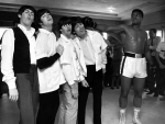 Cassius Clay hits the Beatles