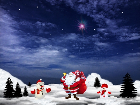 Santa Claus is coming to Town! - santa, christmas, merry, claus