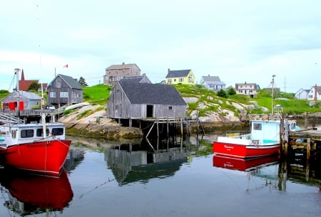 Peggy's Cove Marina - marina, nova scotia, seaside, fishing boat, harbor, fishing, canada