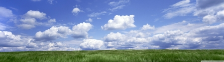 Landscape - dual monitor, cloud, panoramic, grass, wide screen, wide, landscape