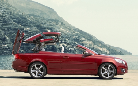 Volvo - red, Volvo, c70, car