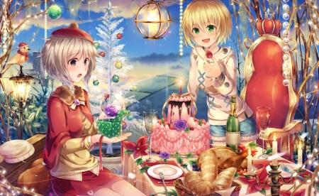 Christmas Dinner Other Anime Background Wallpapers On Desktop
