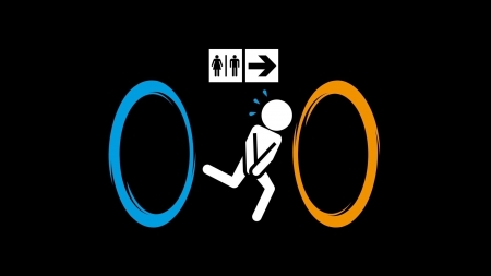Portal fun - funny, entertainment, cool, video game, Portal