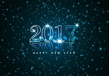 A new year - New year, holiday, blue, celebration