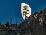 Moonrise at Yosemite 1