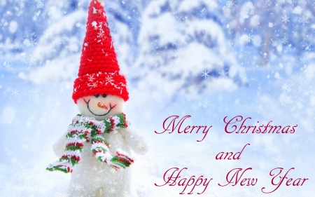 Christmas & New Year - Christmas, holidays, love four seasons, attractions in dreams, snowman, xmas and new year, winter, snow, nature