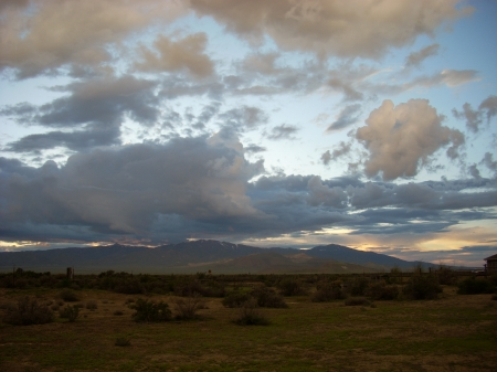 View from Home - late spring, battle mountain, nevada, northern nevada