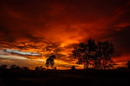 Sunset after the Storm - Sunset, Evening, Storm, Orange