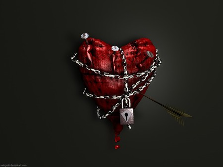 Love Heart Blood Wallpaper : Heart In chains - 3D and cG & Abstract Background Wallpapers on Desktop Nexus (Image 221808)