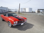 Chevrolet Chevelle SS Convertible Red Black Stripes