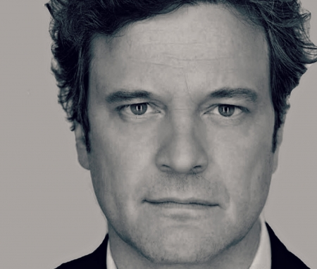 Colin Firth - bw, Colin Firth, black, face, man, white, actor