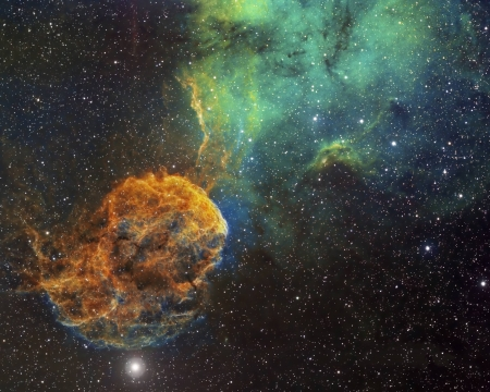 Sharpless 249 and the Jellyfish Nebula - stars, fun, cool, galaxies, space