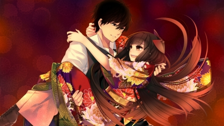 Cute Couple Other Anime Background Wallpapers On Desktop Nexus