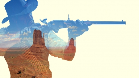 The old west - West, desert, 2D, wallpaper