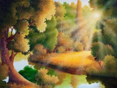 Inspiration - forest, splendor, nature, tree, painting