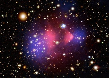The Matter of the Bullet Cluster - stars, fun, cool, galaxies, space