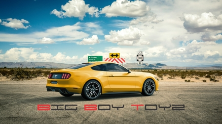 Big Boy Toyz Wallpaper - Ford Mustang