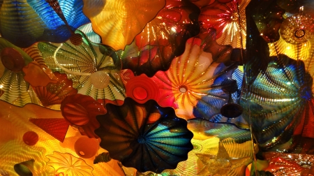 Blown Glass ceiling,Chihuly - art, blown, Glass, ceiling