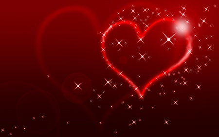 Happy Valentine's Day! - red, luminos, heart, texture, valentine, card