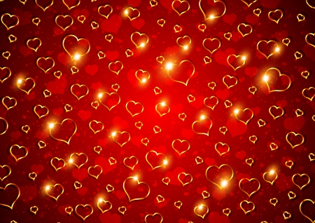 Happy Valentine's Day! - red, heart, texture, yellow, valentine, card