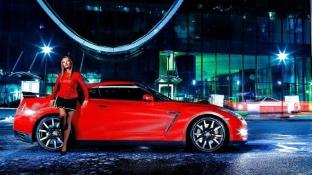 Girl Nissan GTR