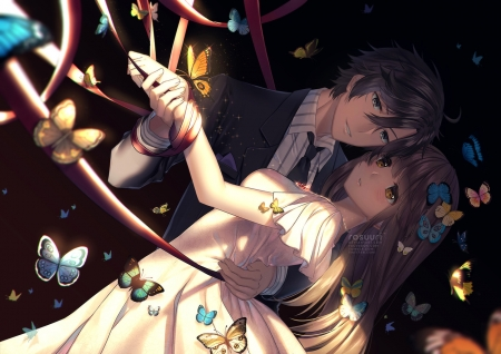 ♥ - cute, couples, anime, man, lady