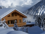 Winter Wooden House