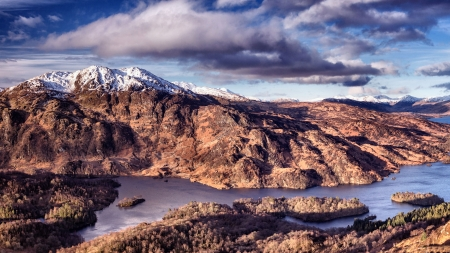 Loch Katrine, Scotland - photo, beautiful, lake, photography, water, loch, wide screen, nature, scenery, landscape