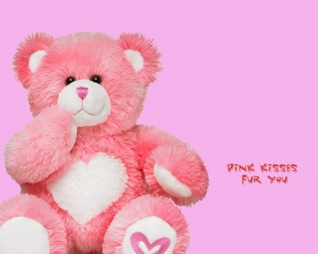 :) - valentines day, teddy, bear, cuddly, hugs, love, heart, kisses, affection, teddy bear, pink
