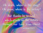 Victory Over Death: Dedicated to Betsey Butler