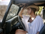 Cowgirl Caprice in her Jeep