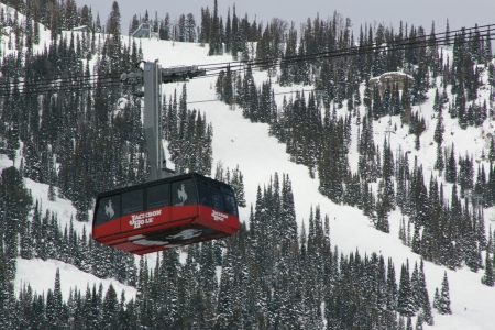 Teton Village, Wyoming - Ski Lift, Sky Tram, Gondola, Skiing, Scenic, Vacation