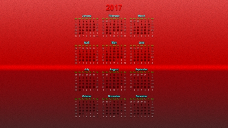 2017 - red, didis, layer, calendar