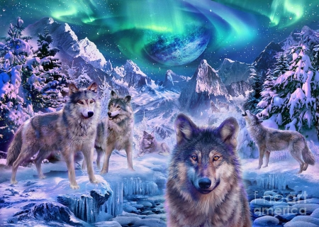 Wolfpack In Winter Other Abstract Background Wallpapers On Desktop Nexus Image 2222213