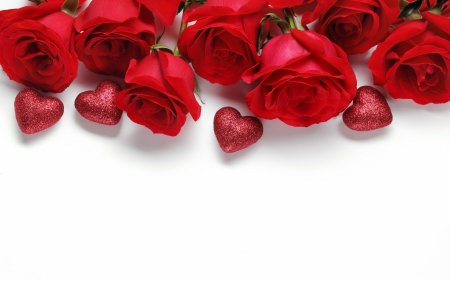 Passion - red, romantic, valentine day, roses, hearts, moment, love, flowers, passion