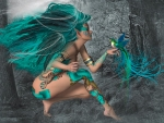 Aqua Feathered Forest Elf
