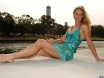 Elena Dementieva on the riverbank