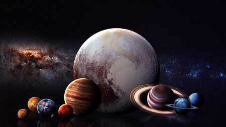 Space Planets - planets, mars, 3d, jupitor, galaxies, earth