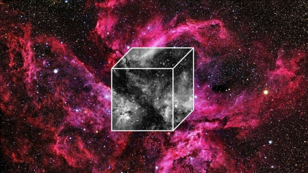 cube in space - stars, fun, cool, galaxies, space