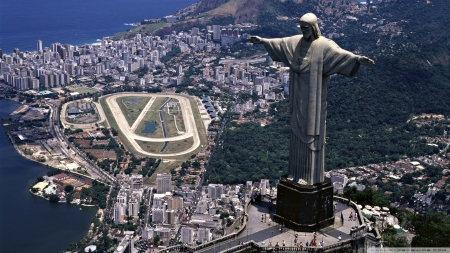 Christ The Redeemer - Rio, city, Brazil, statue, Christ The Redeemer, South America, architecture