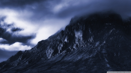 The Dark Mountain - mountains, Scotland, nature, Glencoe, United Kingdom