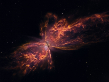 The Butterfly Nebula from Hubble - stars, fun, cool, galaxies, space