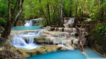 Tropical Waterfall - nature, forests, waterfalls, landscapes