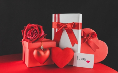 Passion ♥ - ribbon, box, roses, gift, hearts, red velvet, moment, special valentine day, love, passion, choccolate